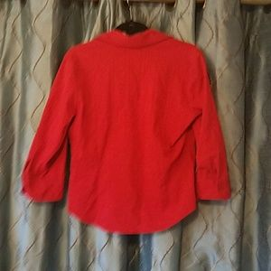 Coldwater Creek Tops - Coldwater Creek zip front blouse